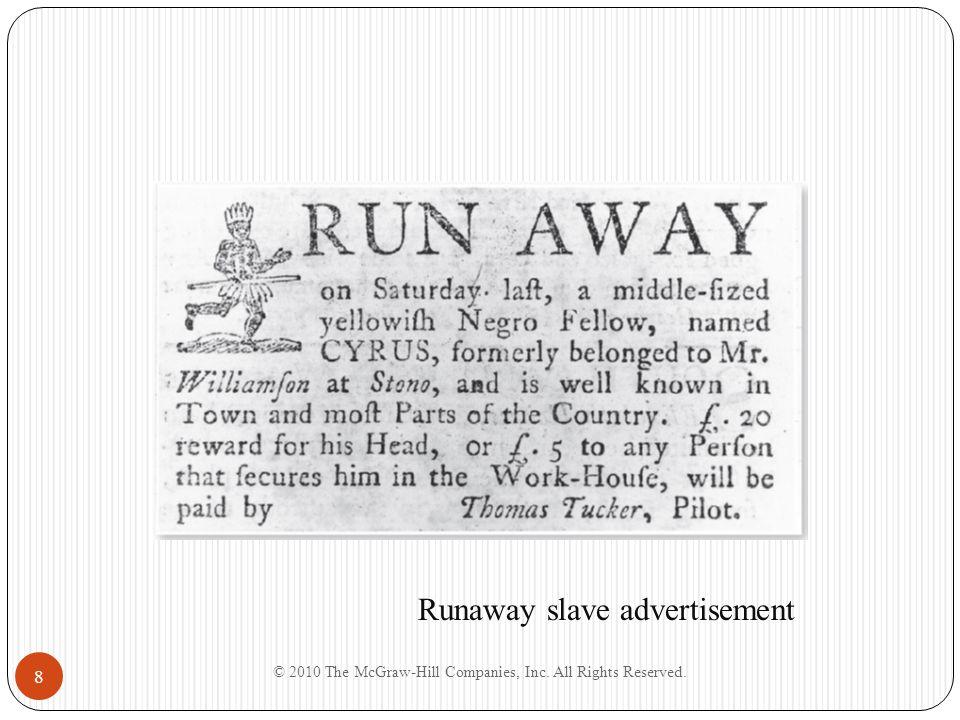 8 Runaway slave advertisement