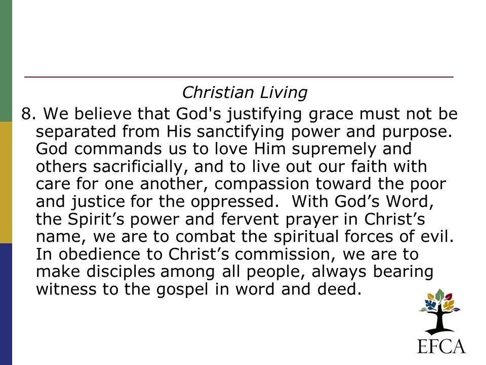 Christian Living 8.