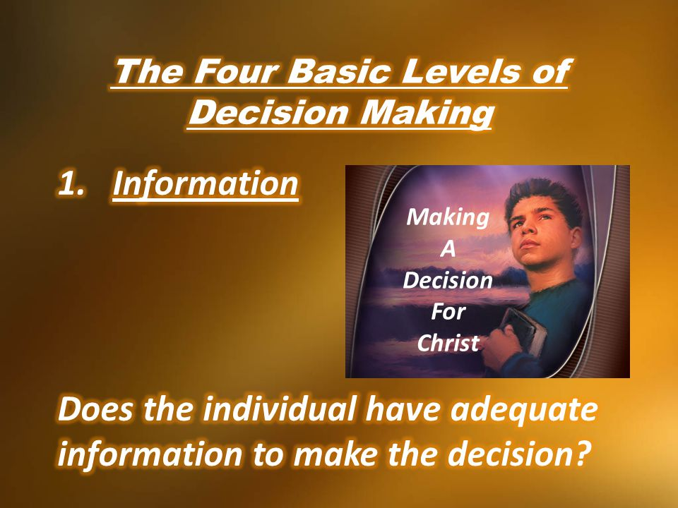 Making A Decision For Christ