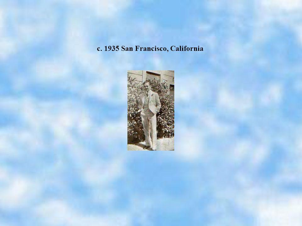 c. 1935 San Francisco, California