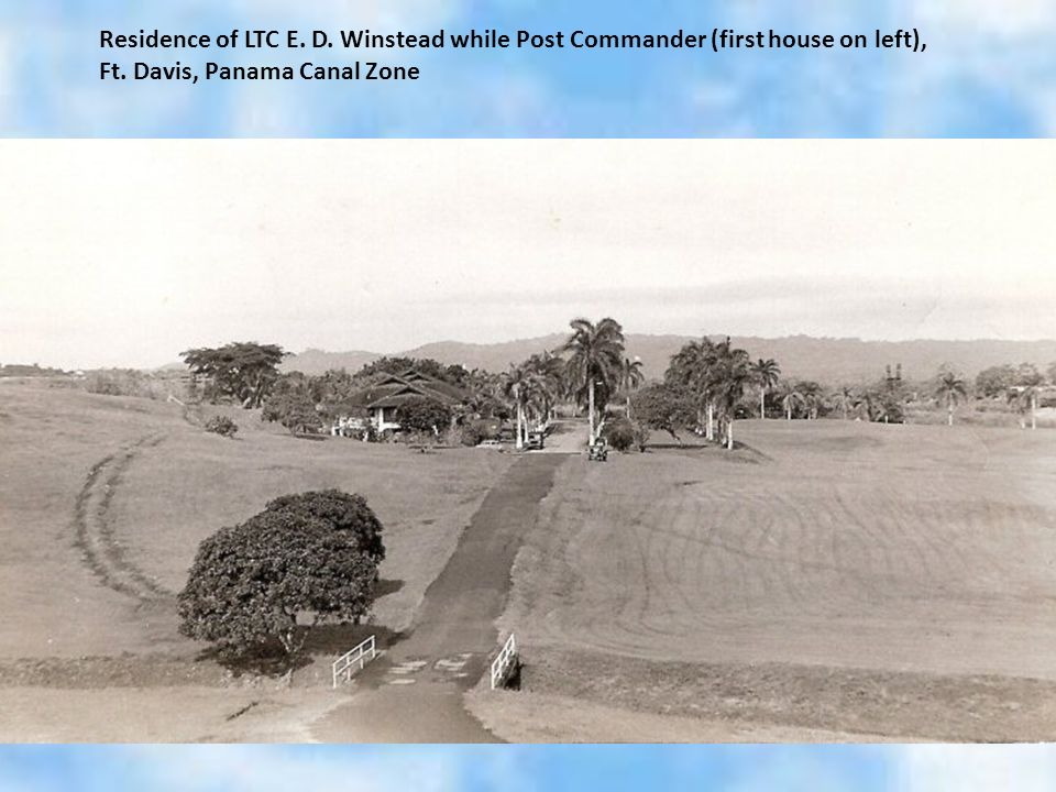 Residence of LTC E.D. Winstead while Post Commander (first house on left), Ft.