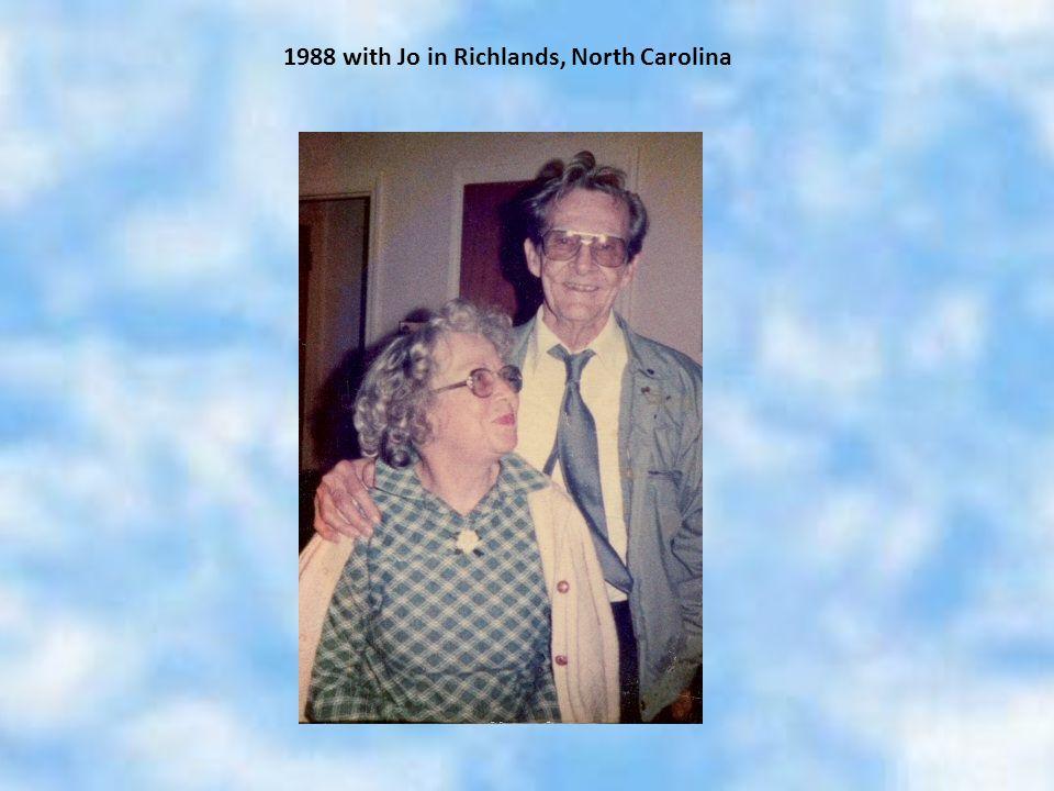 1988 with Jo in Richlands, North Carolina