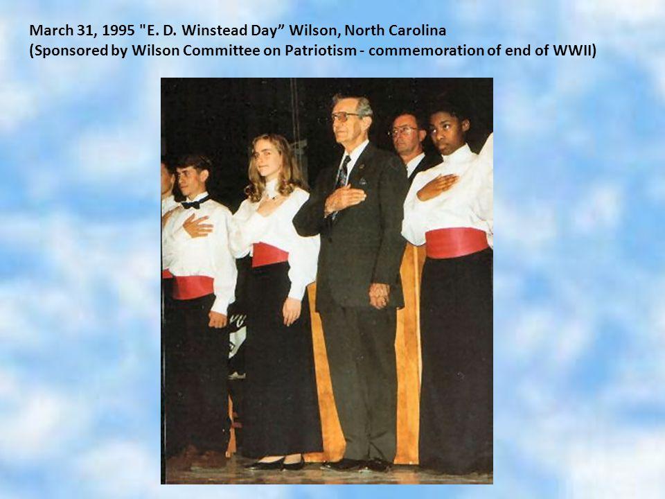 March 31, 1995 E. D.