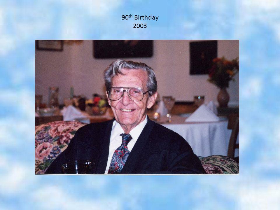 90 th Birthday 2003