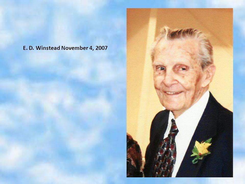 E. D. Winstead November 4, 2007