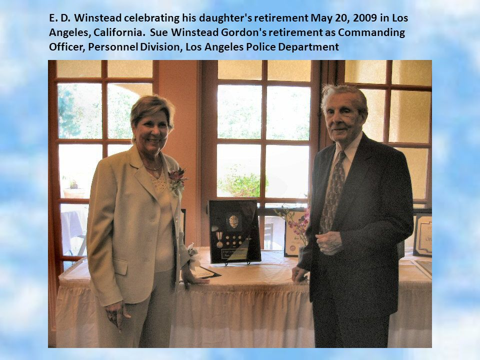 E.D. Winstead celebrating his daughter s retirement May 20, 2009 in Los Angeles, California.