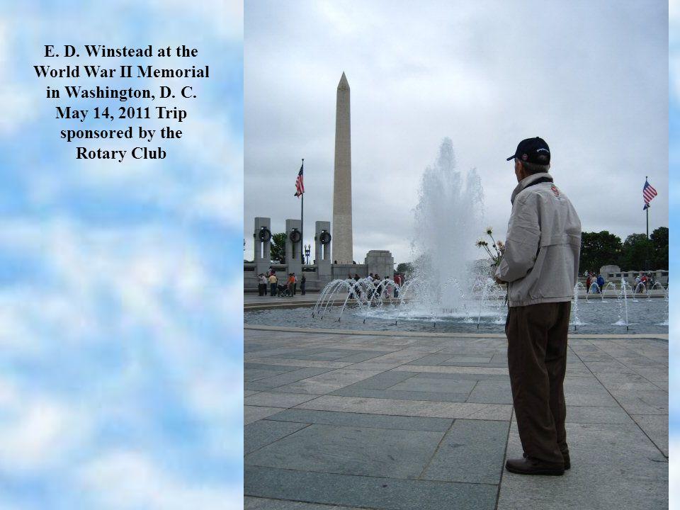 E. D. Winstead at the World War II Memorial in Washington, D.