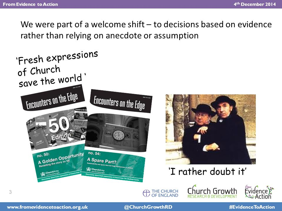 Growth patterns across fxC in 10 dioceses An open question: how many of the 1 st 3 categories count as success.