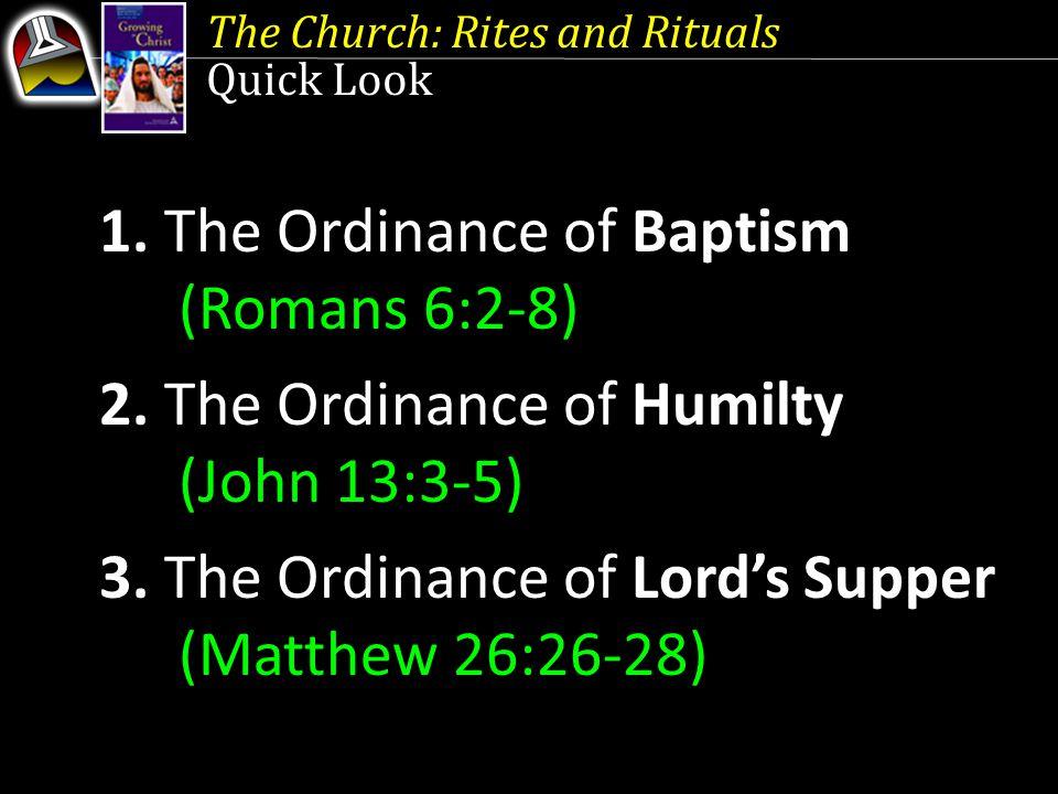 The Church: Rites and Rituals 1.