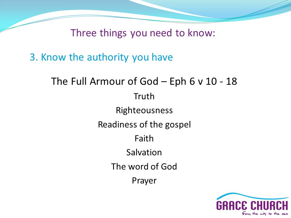 Three things you need to know: 3.