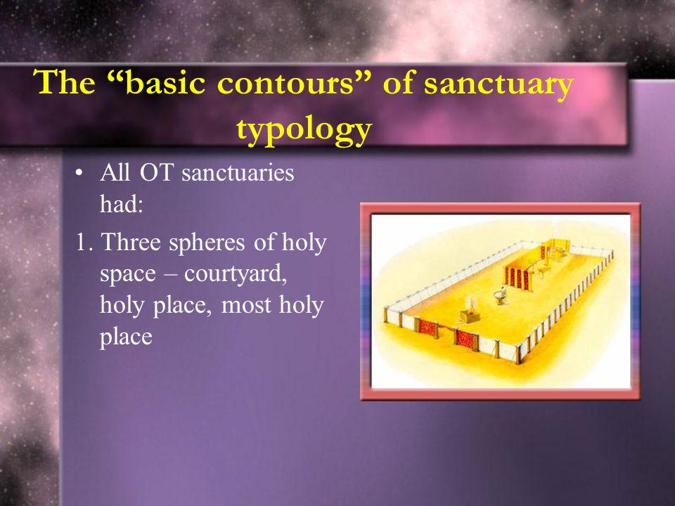 The basic contours of sanctuary typology All OT sanctuaries had: 1.