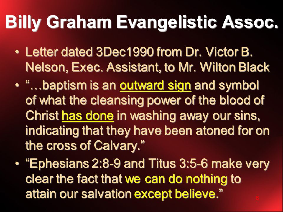 6 Billy Graham Evangelistic Assoc. Letter dated 3Dec1990 from Dr.