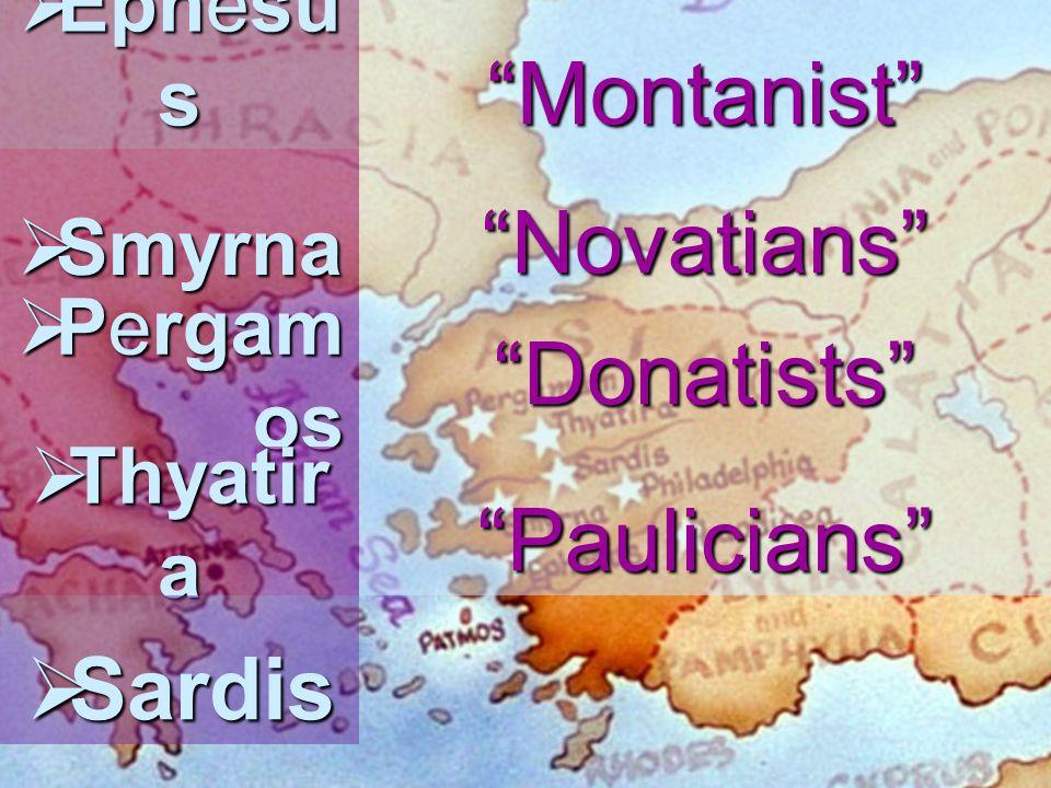 Sardis- Faithful Few Cathari, Bogomils, Abigenses, Waldenses, Henricians, Bulgarians, Petrobusians, Arnoldists, Lollards, Hussites Ana Baptist