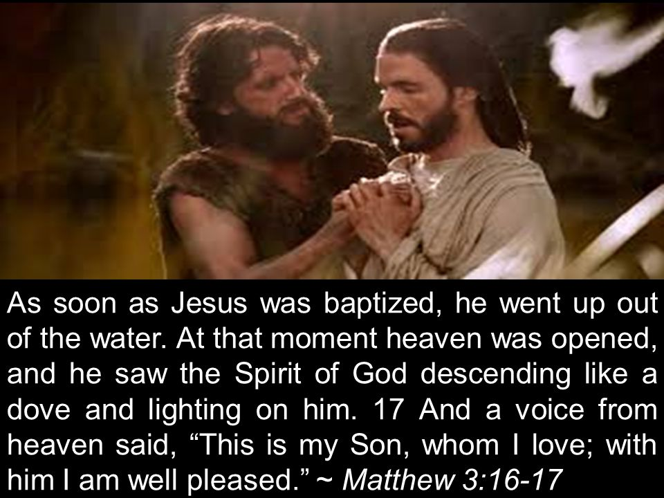 I baptize you with water for repentance.