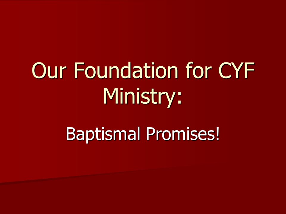 Who Makes Baptismal Promises.Who makes promises on behalf of a child at baptism.