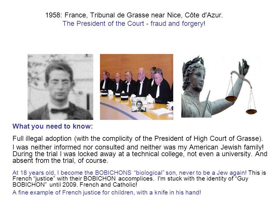1958: France, Tribunal de Grasse near Nice, Côte d Azur.