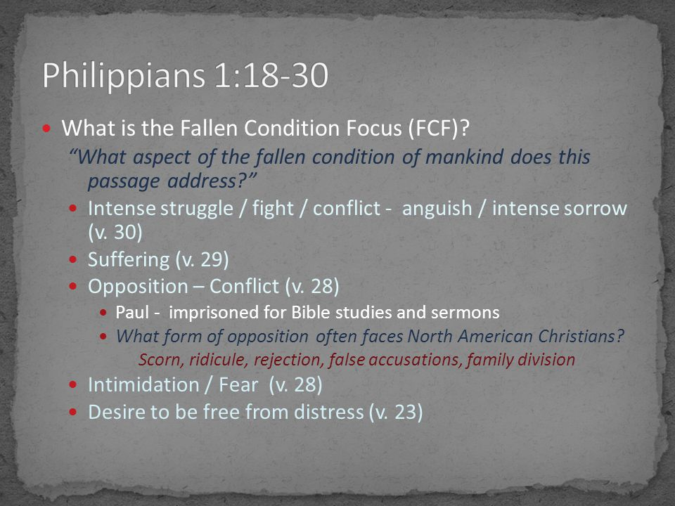 What is the Fallen Condition Focus (FCF).
