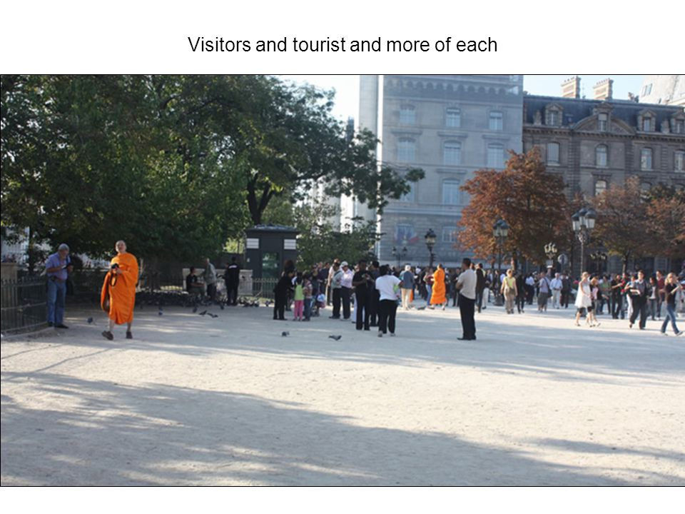 Visitors and tourist and more of each