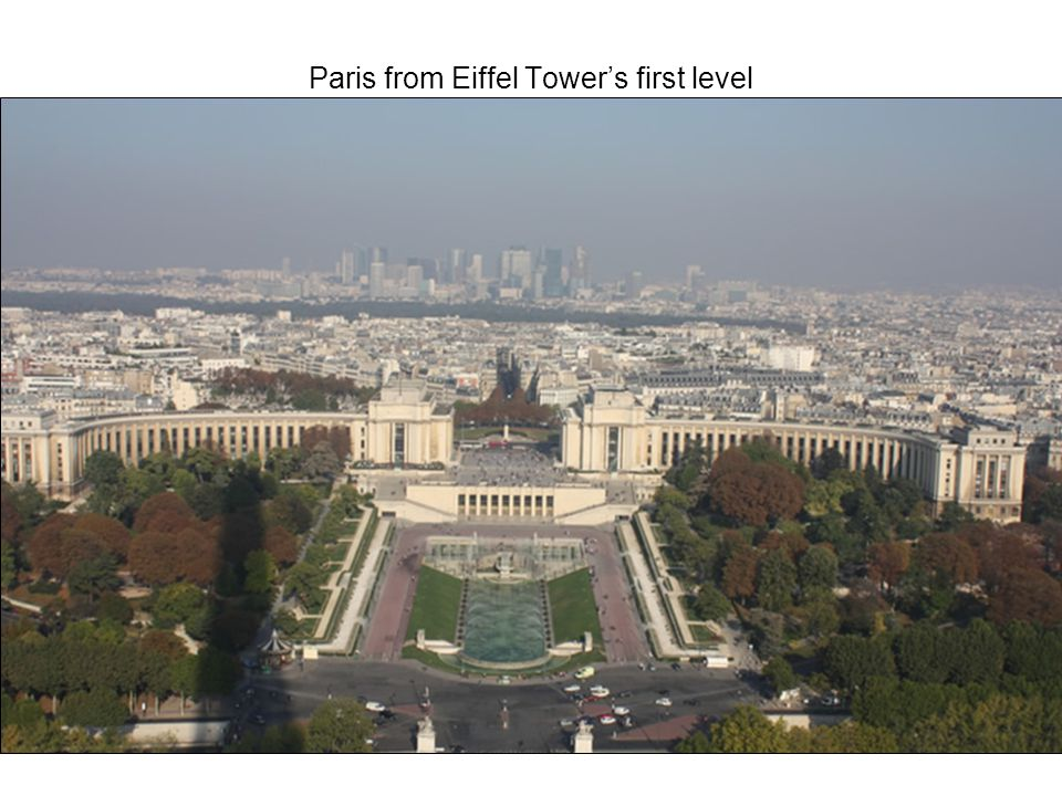 Paris from Eiffel Tower's first level
