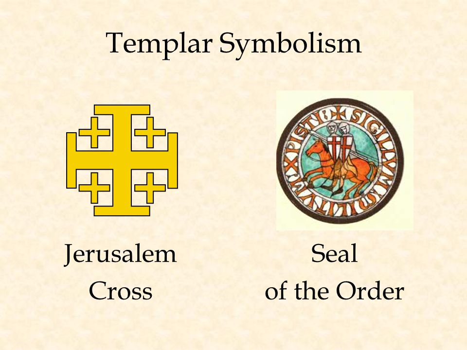 Templar Symbolism Seal of the Order Jerusalem Cross