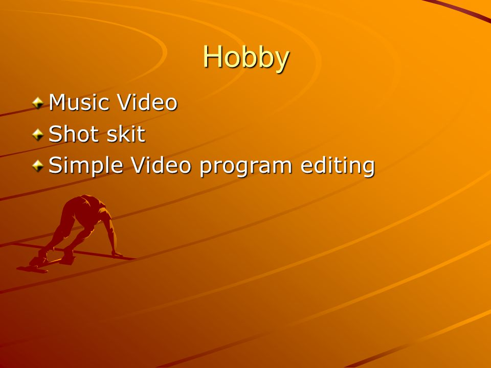 Hobby Music Video Shot skit Simple Video program editing