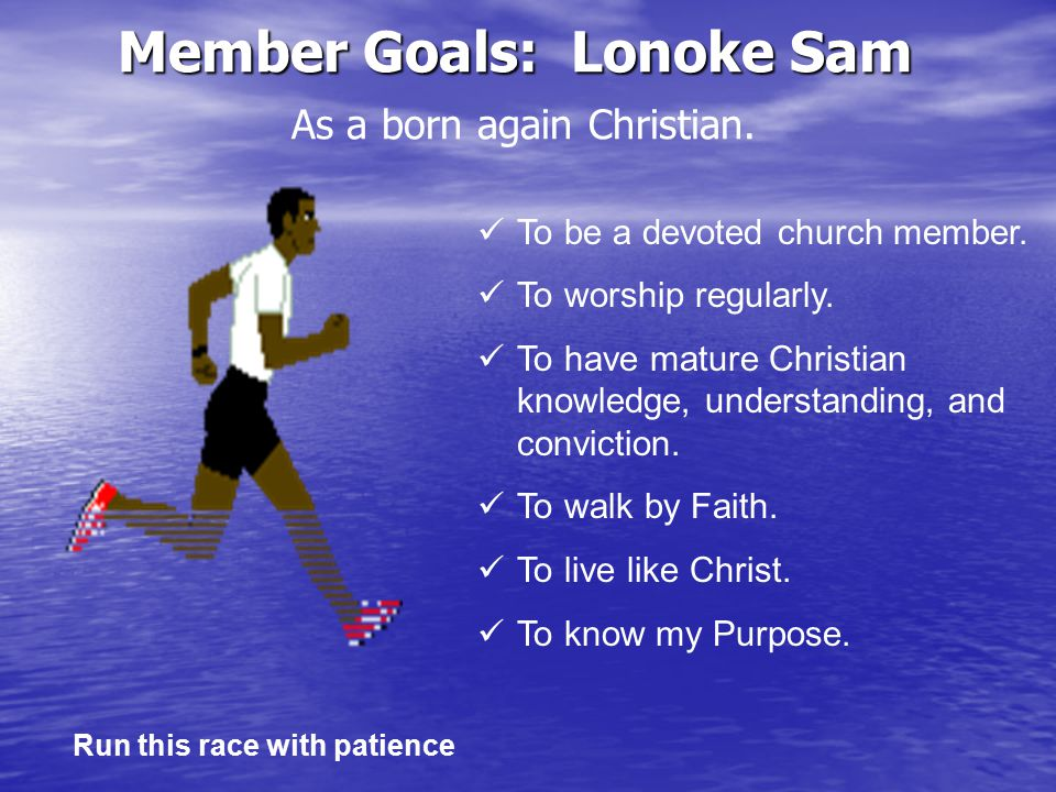Outreach Goals and Problems Outreach - Is a program of Christian missions seeking to win the lost to Christ, by personal effort; and by all other methods sanctioned by the gospel of Jesus Christ.