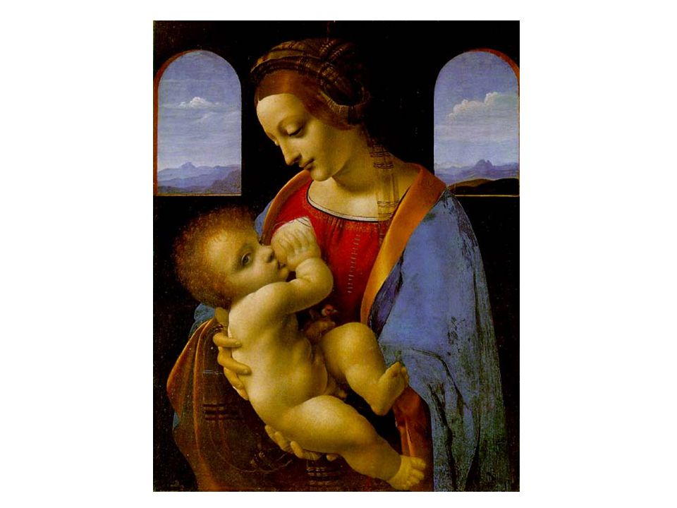 藝術作品 - 達文西名畫 聖母子 聖母子 The Madonna and Child (The Litta Madonna)