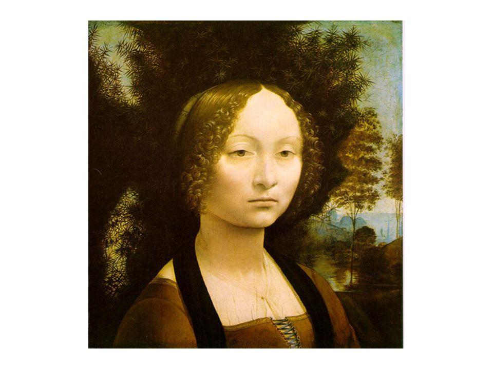 藝術作品 - 達文西名畫 女子肖像 Ginevra de` Benci 女子肖像