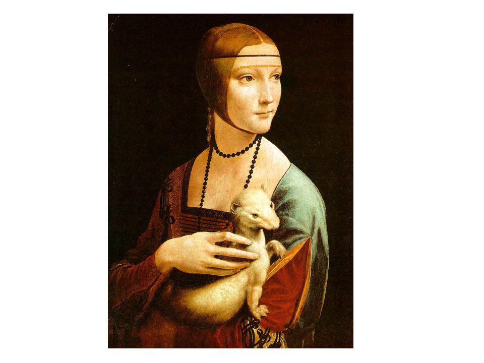 藝術作品 - 達文西名畫 抱銀鼠的 女子 抱銀鼠的女子 Lady with an Ermine