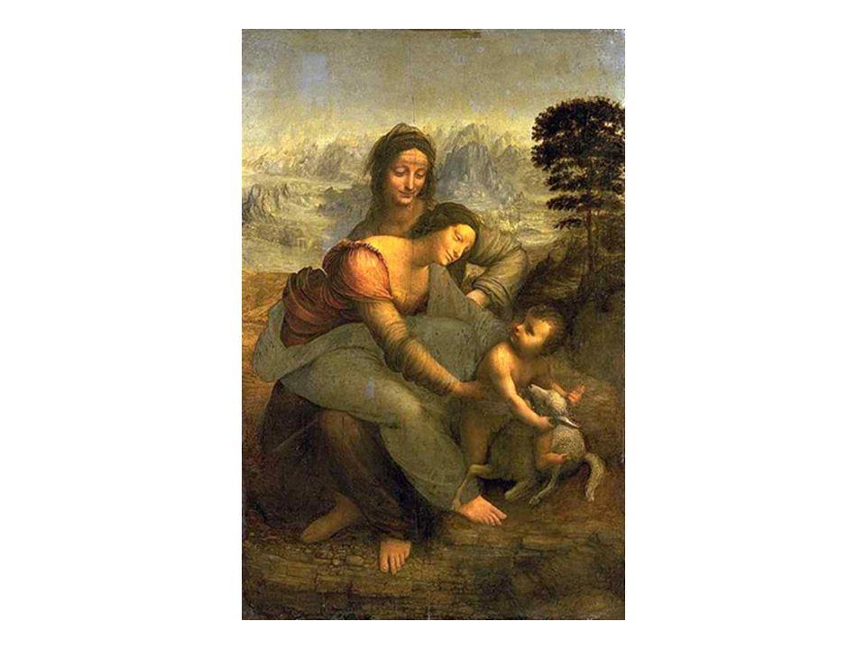 藝術作品 - 達文西名畫 聖母子和 聖安妮 聖母子和聖安妮 The Virgin and Child with St. Anne