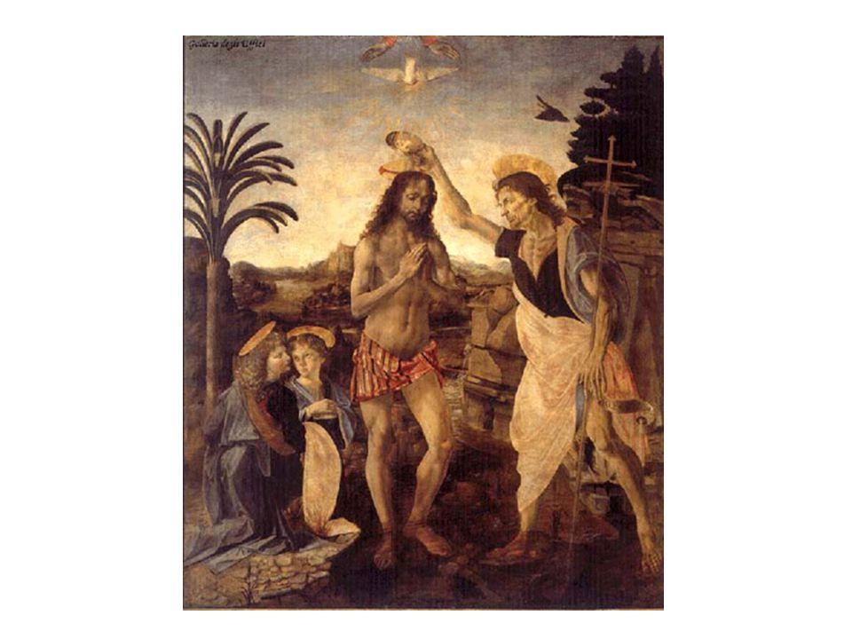 藝術作品 - 達文西名畫 基督的 洗禮 基督的洗禮 The Baptism of Christ