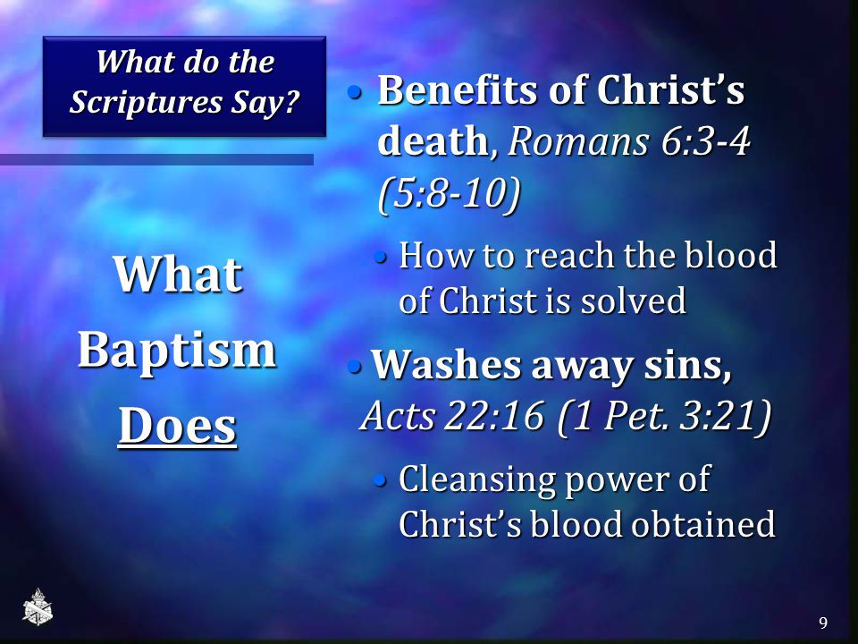 What do the Scriptures Say.