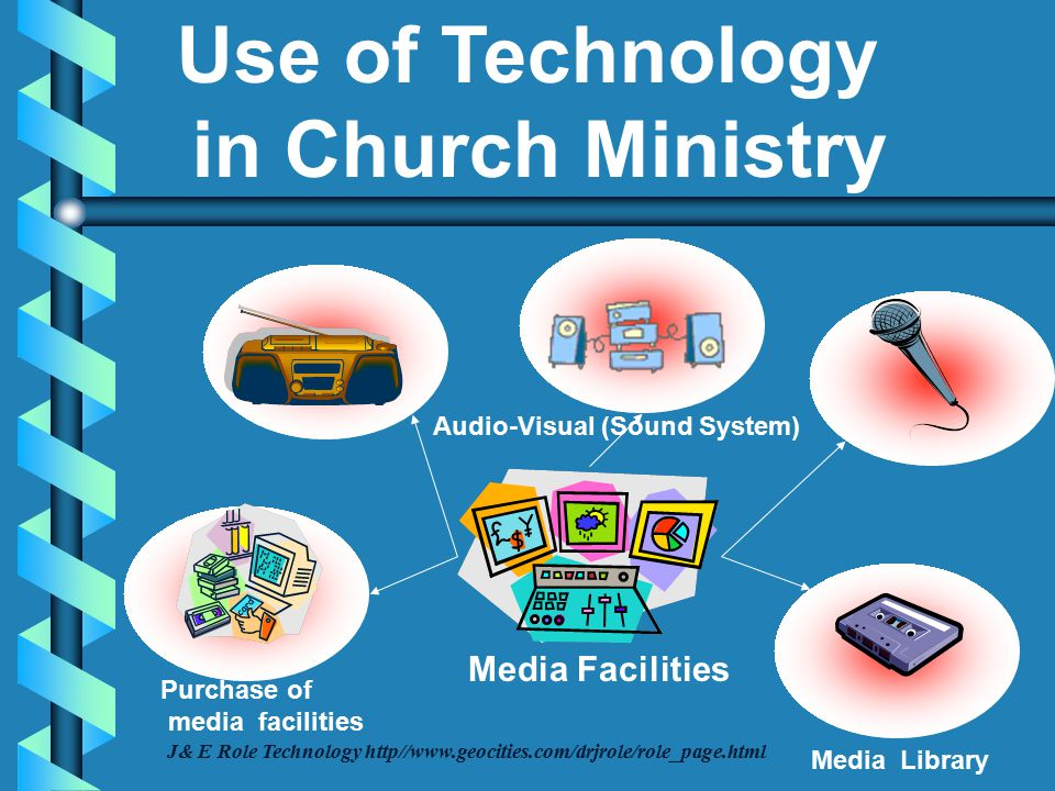 Inventory Equipment Tools Furniture J& E Role Technology http//www.geocities.com/drjrole/role_page.html Use of Technology in Church Ministry