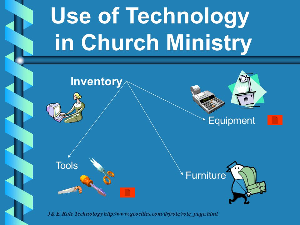 Expenses Budget Financial Management Funds Donations Offerings Tithes J& E Role Technology http//www.geocities.com/drjrole/role_page.html Use of Technology in Church Ministry