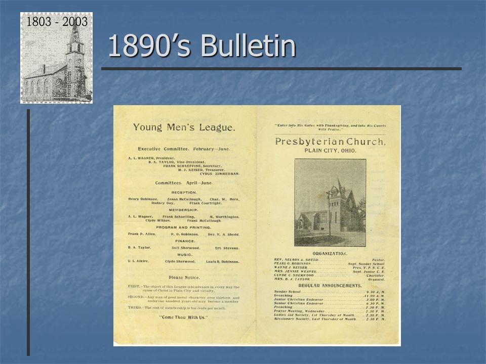 1890's Bulletin