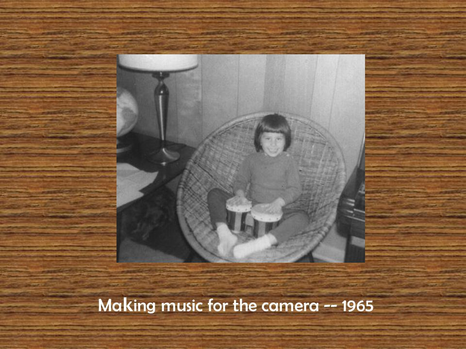 Ma k ing music for the camera -- 1965