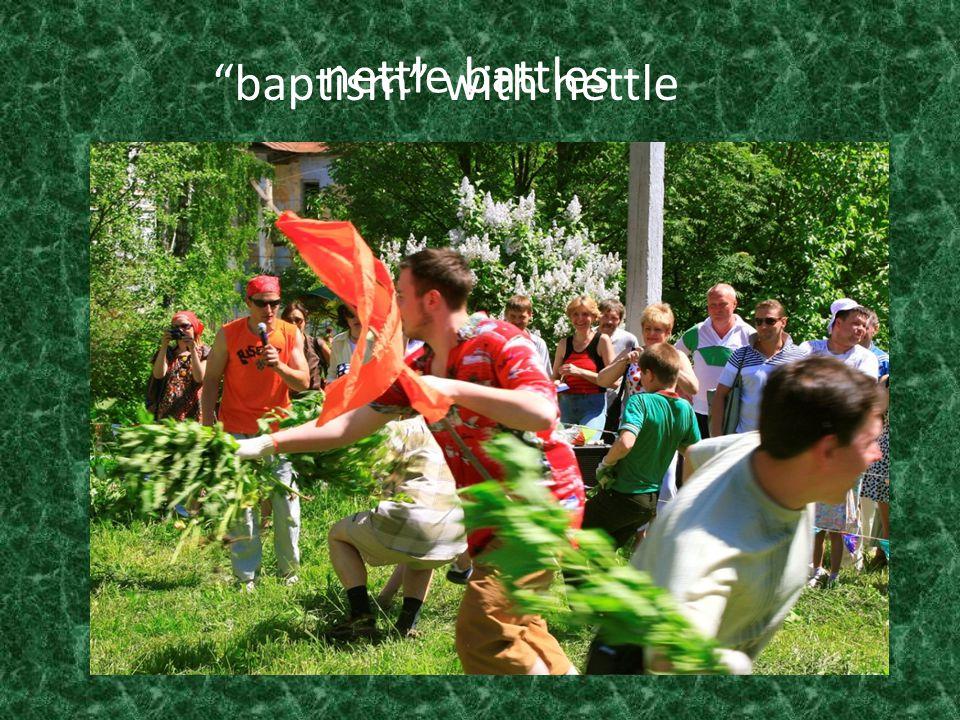 nettle battles baptism with nettle