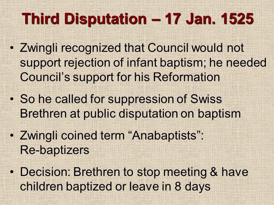 Third Disputation – 17 Jan.