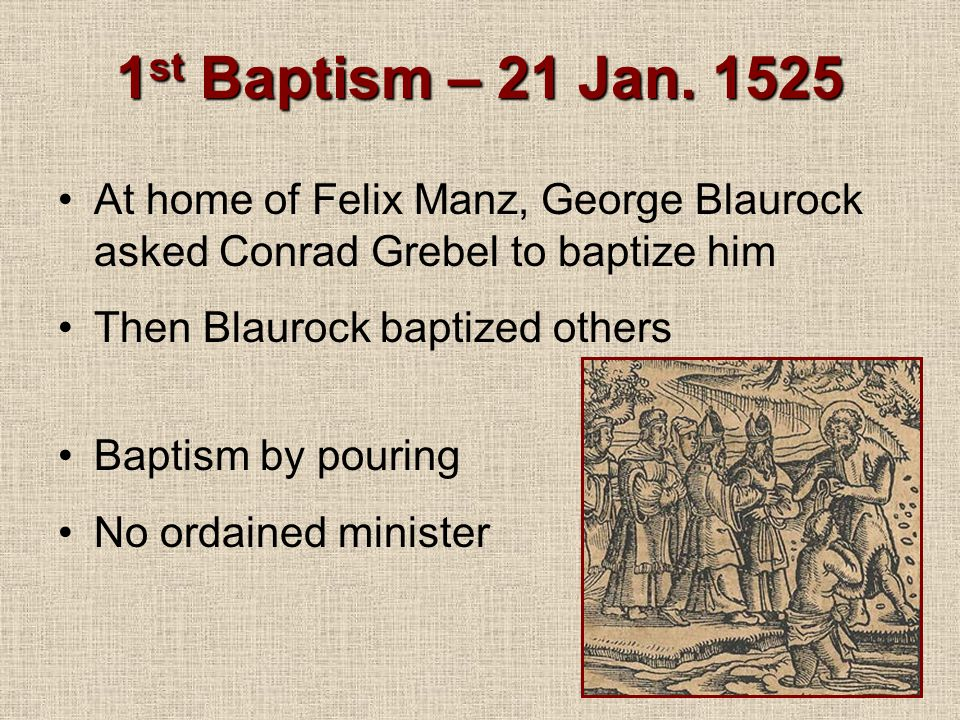 1 st Baptism – 21 Jan.