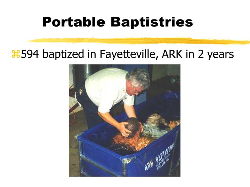 Portable Baptistries z594 baptized in Fayetteville, ARK in 2 years