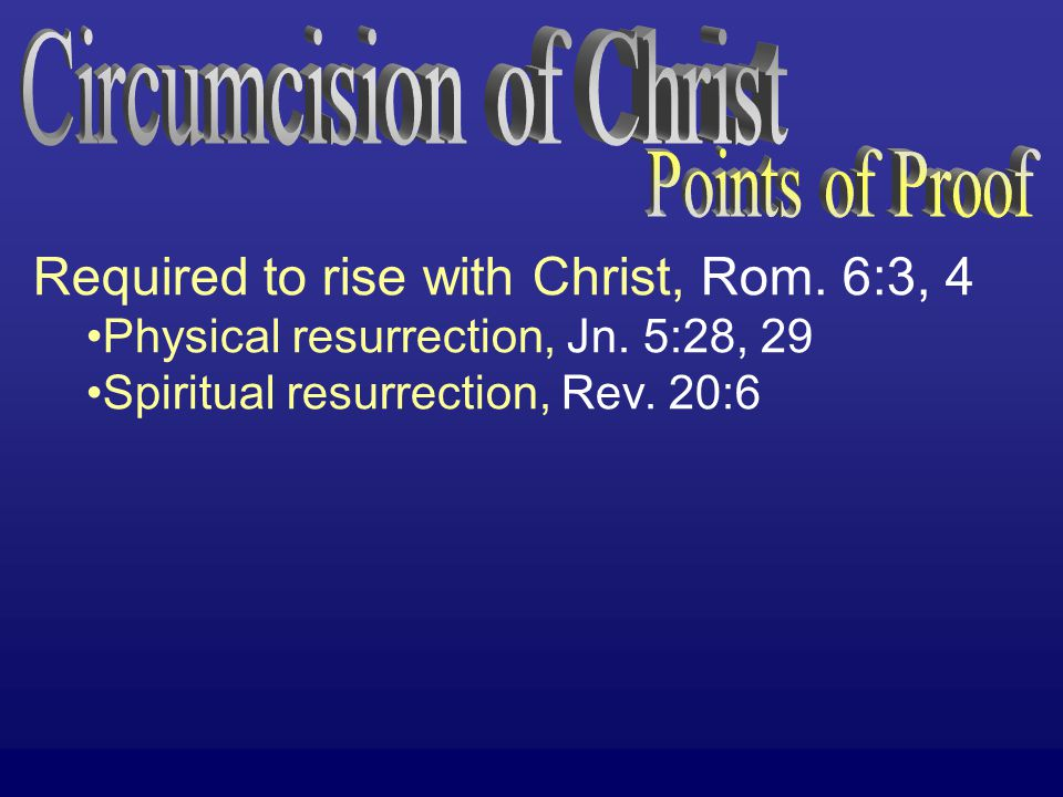 If baptism is not required then you can be saved… …w/o putting on Christ, Gal.