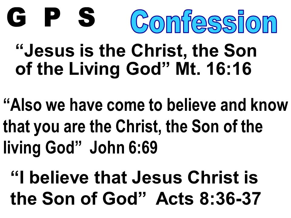 Jesus is the Christ, the Son of the Living God Mt.