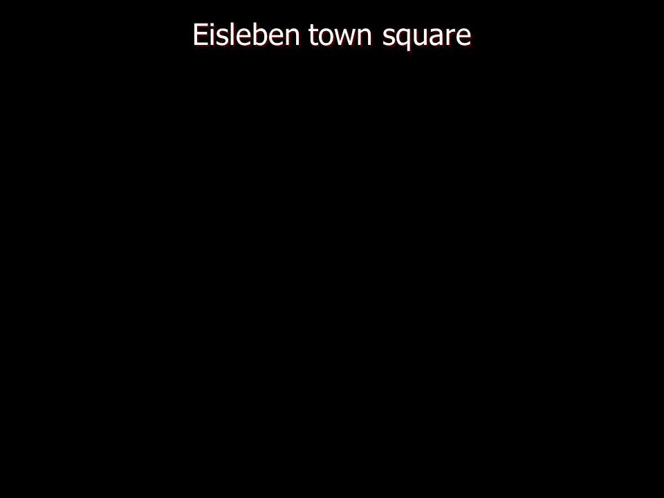 Eisleben town square