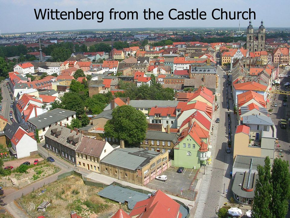 Wittenberg from the Castle Church