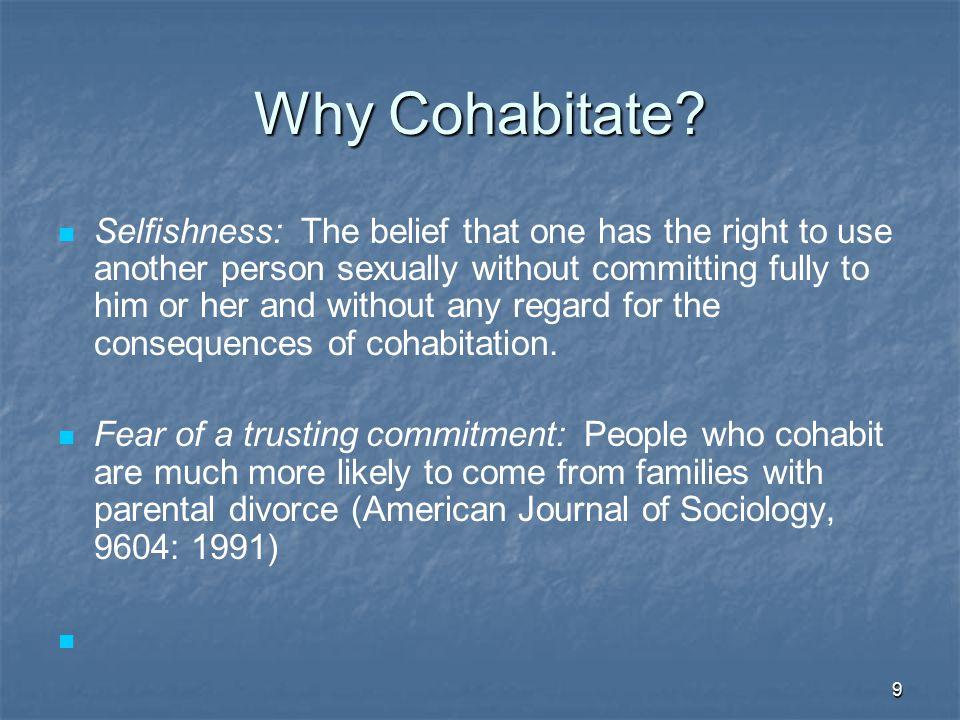 10 Why Cohabitate.