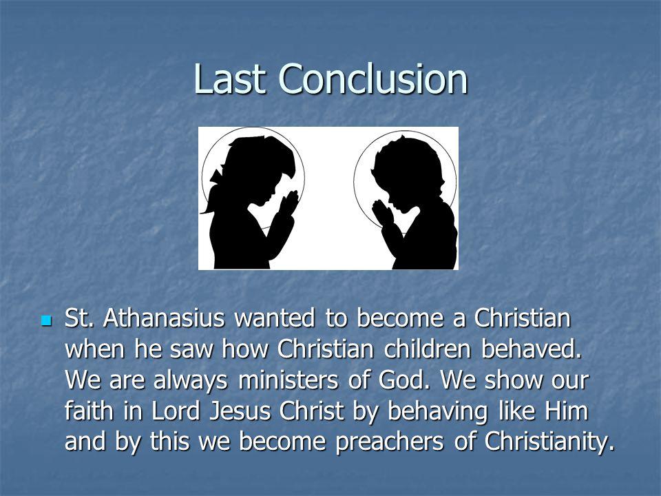 Last Conclusion St.
