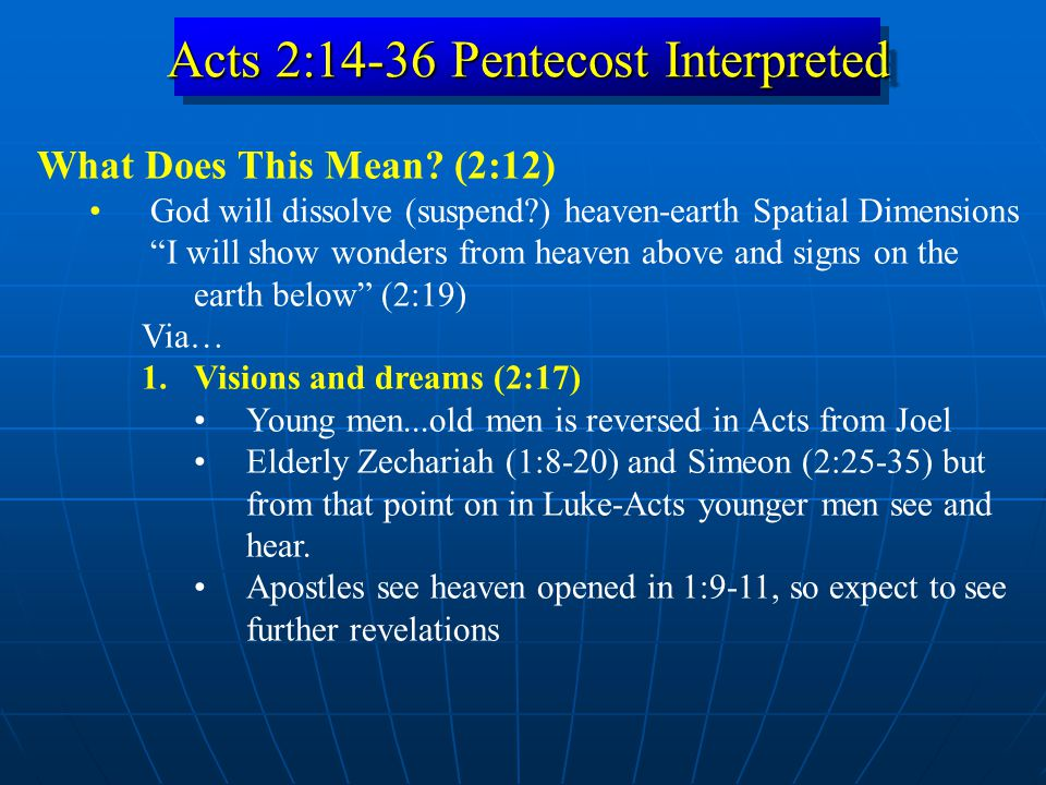 Acts 2:14-36 Pentecost Interpreted What Does This Mean.