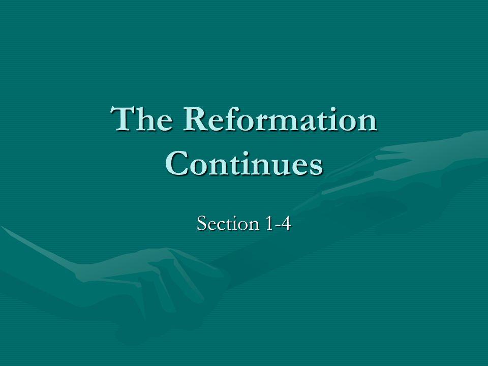 New Protestants Emerge Huldrych ZwingliHuldrych Zwingli John CalvinJohn Calvin PresbyteriansPresbyterians Catholic ReformersCatholic Reformers AnabaptistsAnabaptists