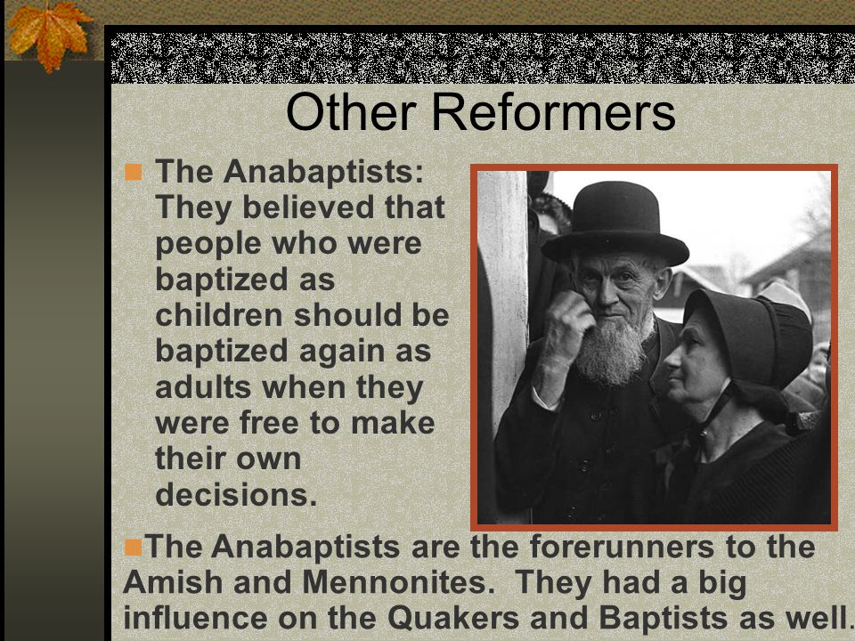 Women of the Reformation Initially, women played a big role in the Reformation as they gained some equality with men.
