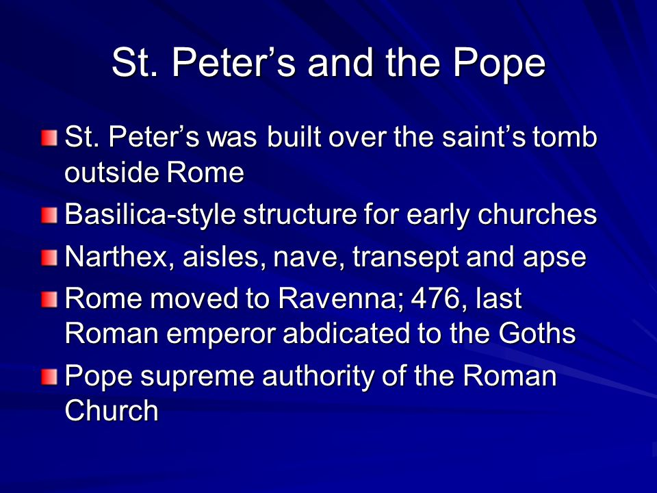 St. Peter's and the Pope St.